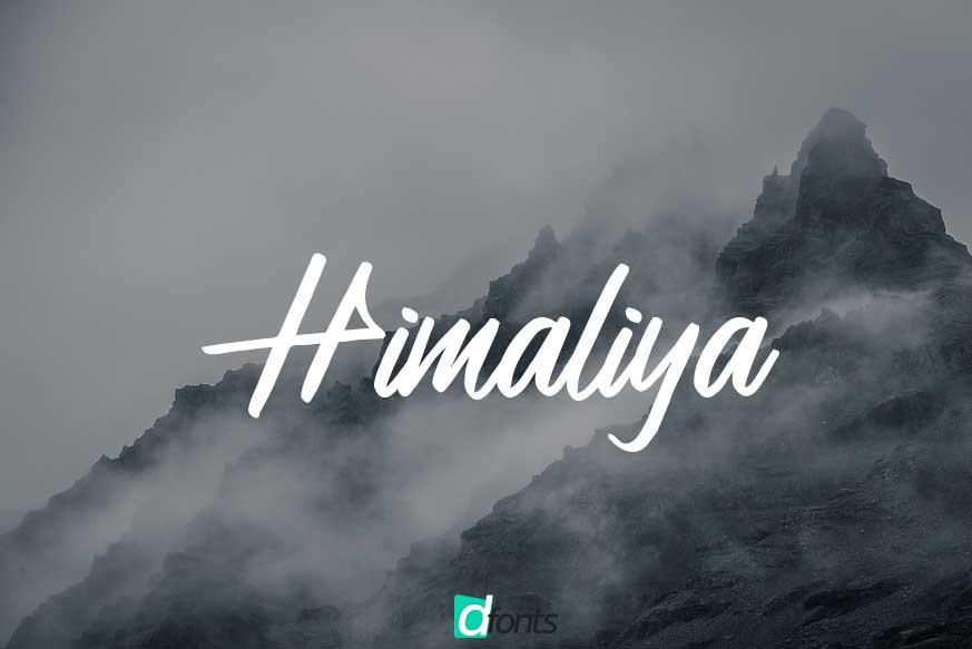 Himaliya Handwritting Script Font