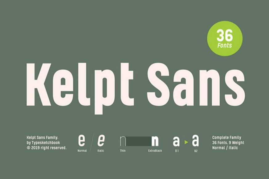 Kelpt Sans Font Family