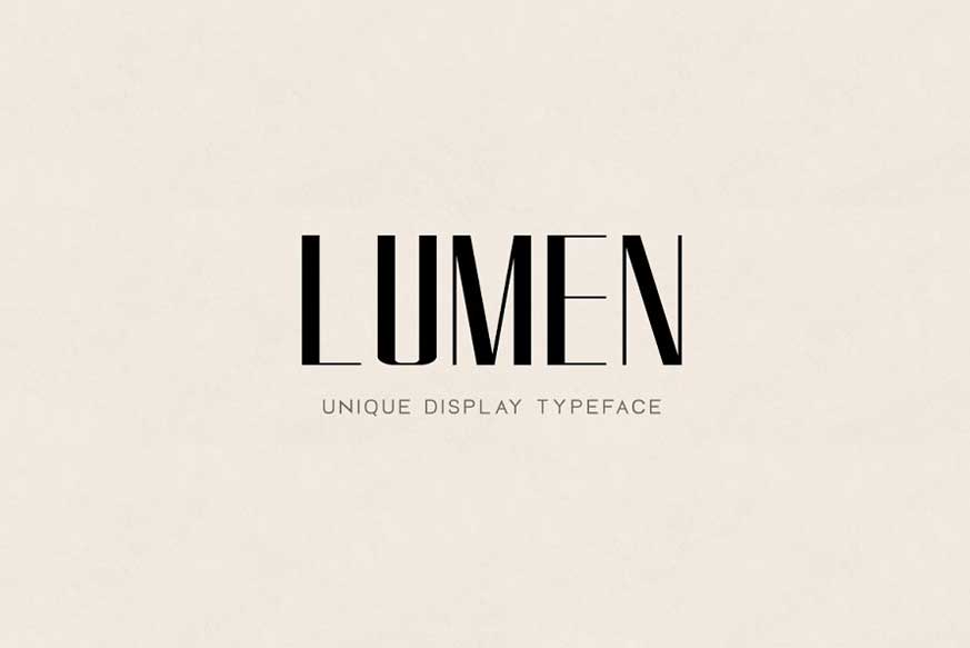 LUMEN - Display Headline Typeface
