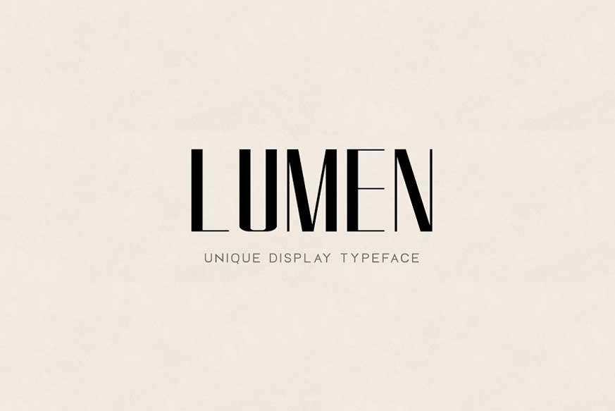 LUMEN - Display Headline Typeface