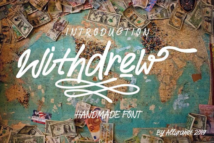 Withdrew Font