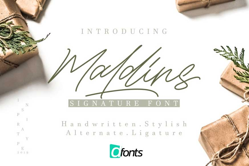 Maldins - Stylish Signature Font