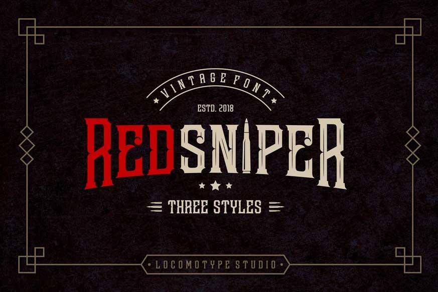 Redsniper Vintage Font