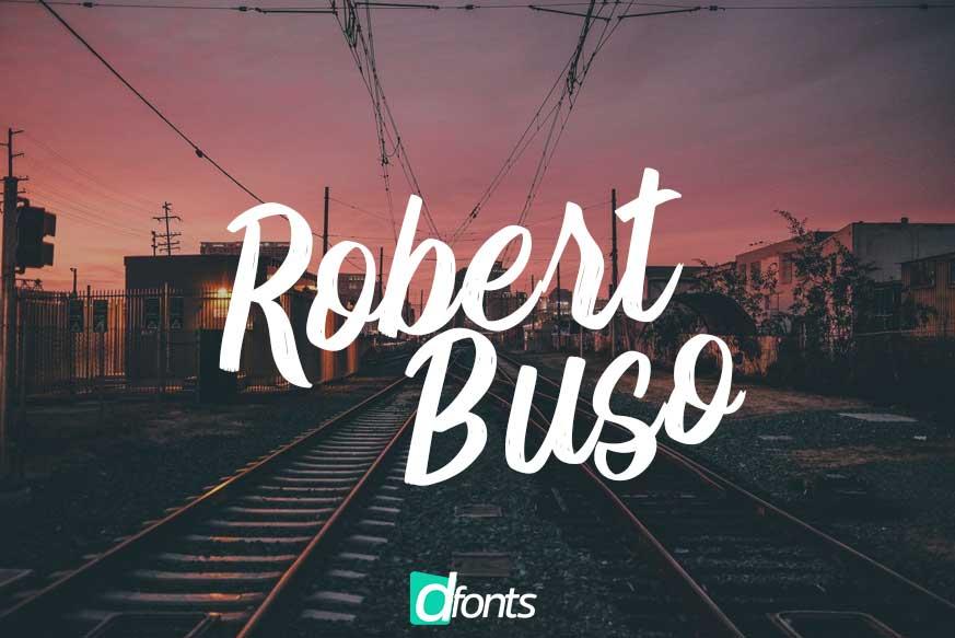 Robert Buso - Brush Font