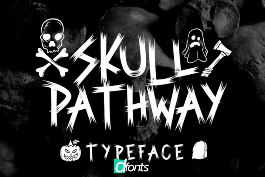 Skull Pathway Font