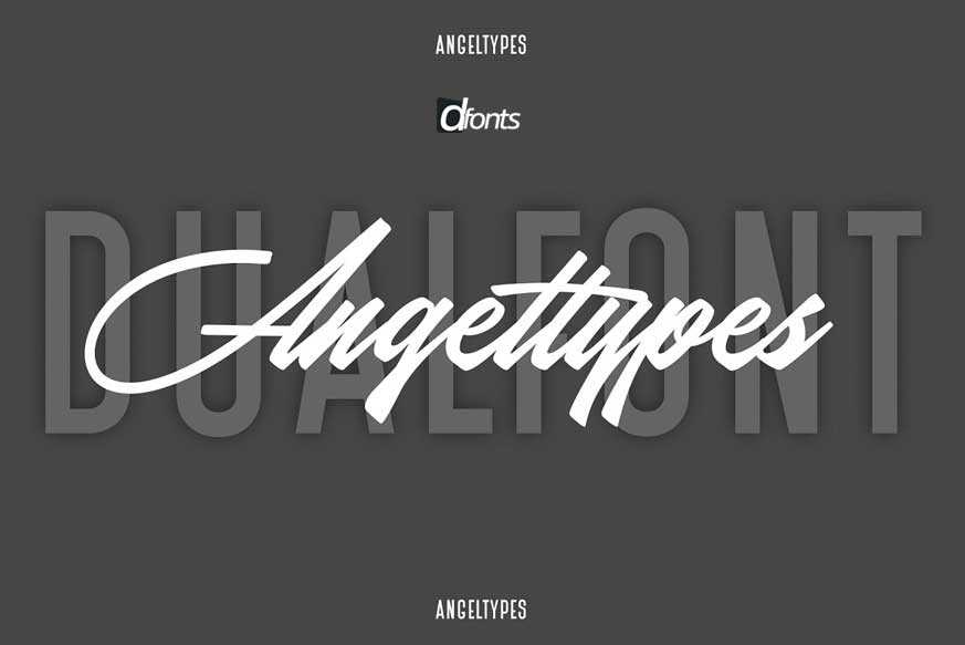 Angel Types Dual Font