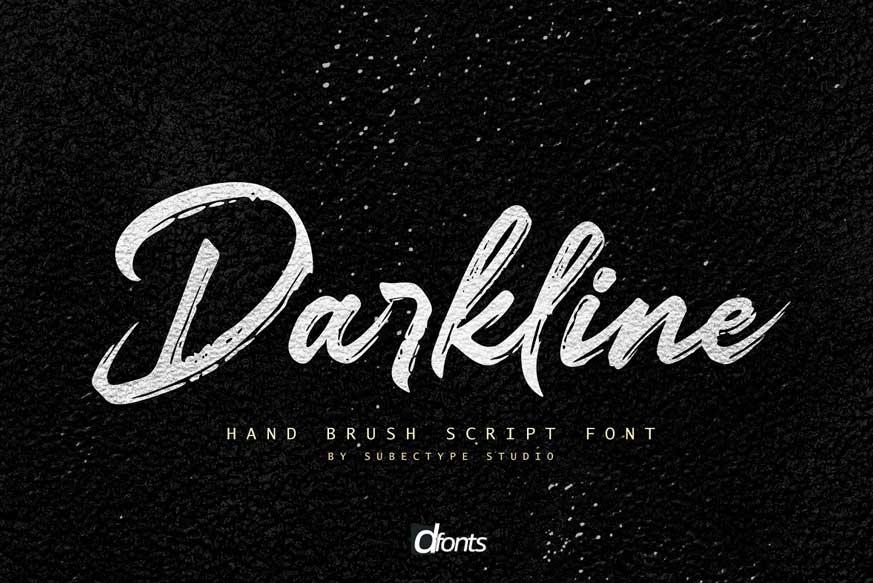 Darkline / Brush Script Font