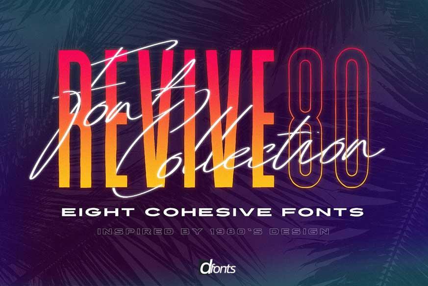 Revive 80 - Retro 1980's Font Pack