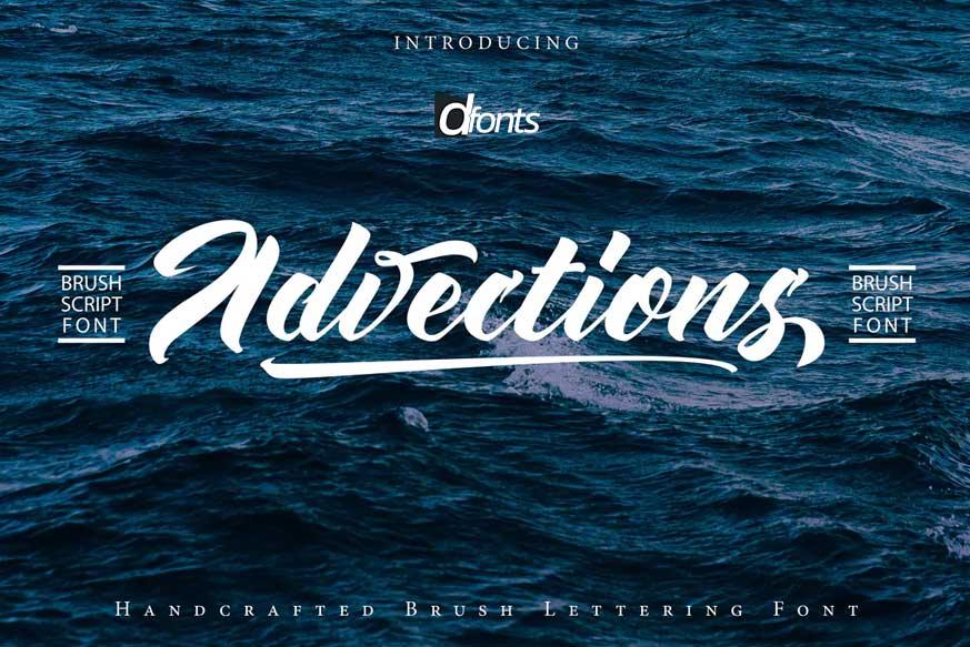 Advections | Brush Script Font