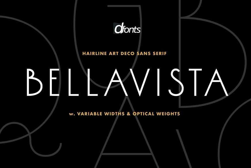 Bellavista - Art deco variable font