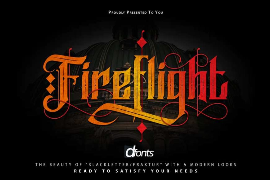 FireFlight Blackletter Modern Font