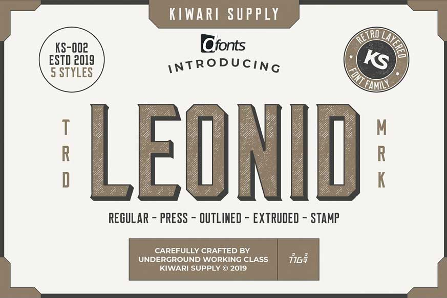 Download Leonid Retro Layered Font Pack - Download Free Fonts