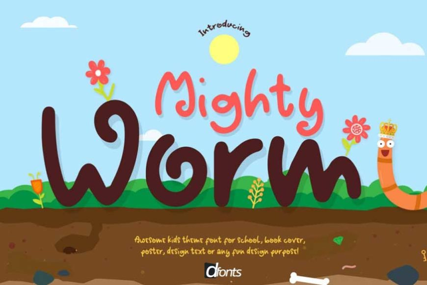 Mighty Worm Font