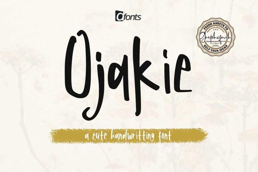 Ojakie - Cute Display Font