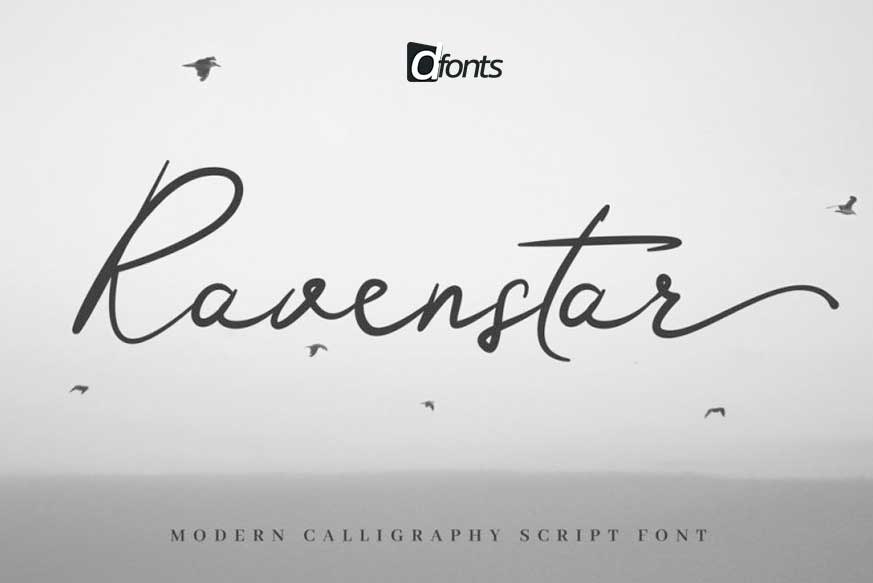 Ravenstar - Modern Script Font