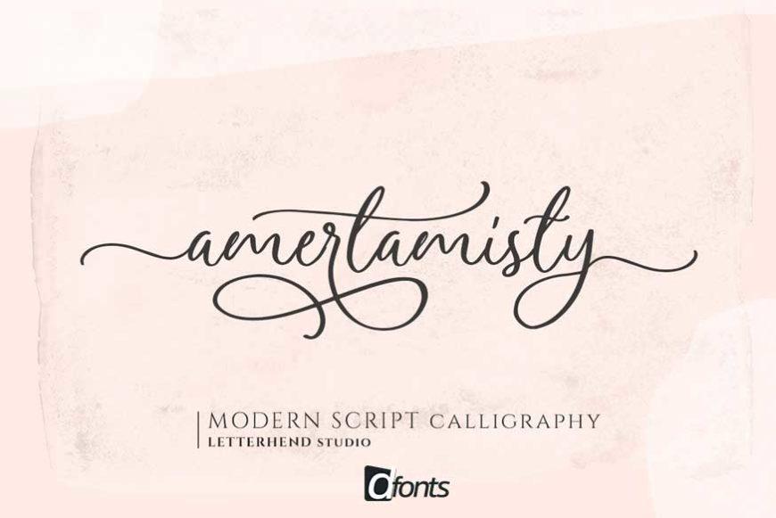 Amerta Misty Script