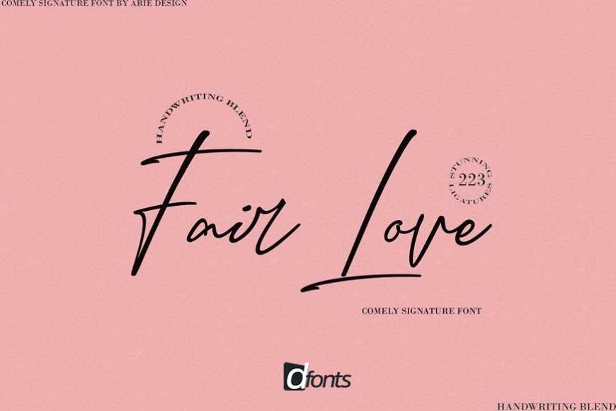 Fair Love Script Font