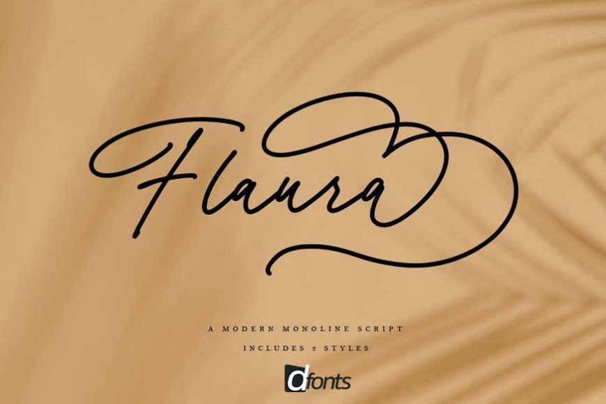 Flaura - A Modern Monoline Script