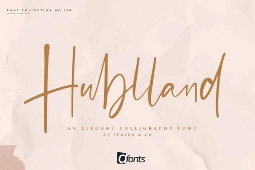 Hublland Script Font