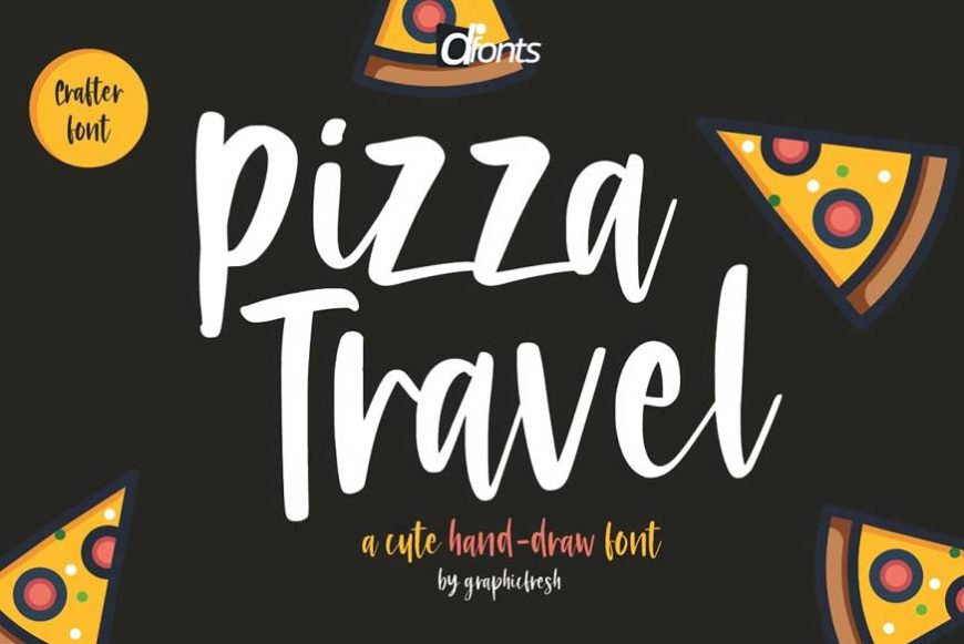 Pizza Travel - Cute Brush Font