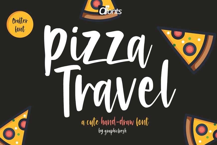 Pizza Travel - Cute Brush Font