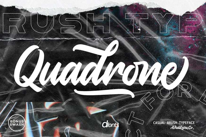 Quadrone Script Font