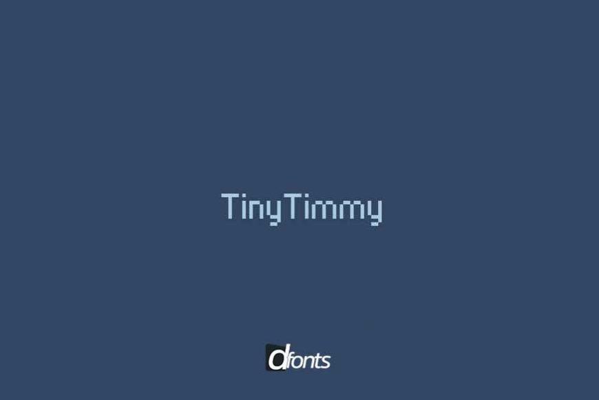 Tiny Timmy Font