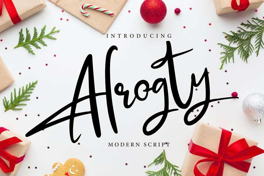 Alrogty Modern Script Font