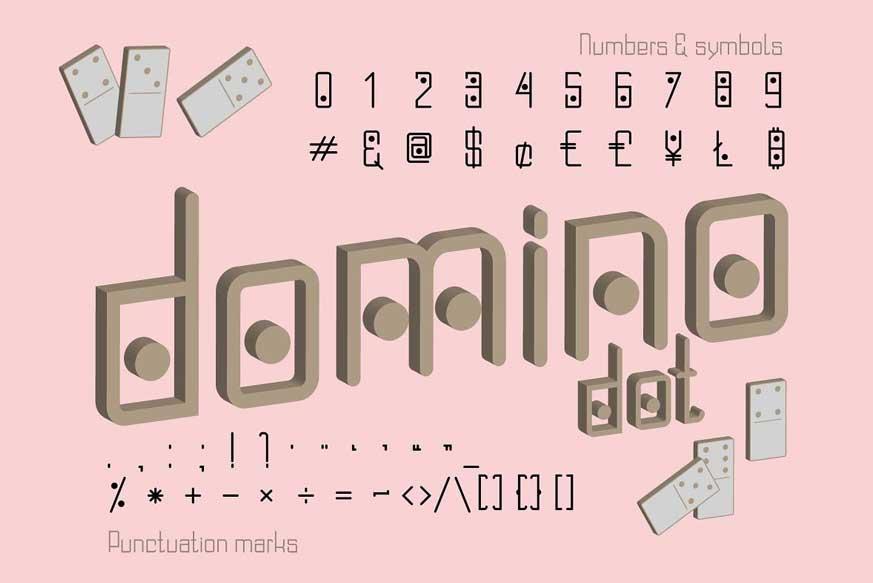 Domino Dot Duo Font