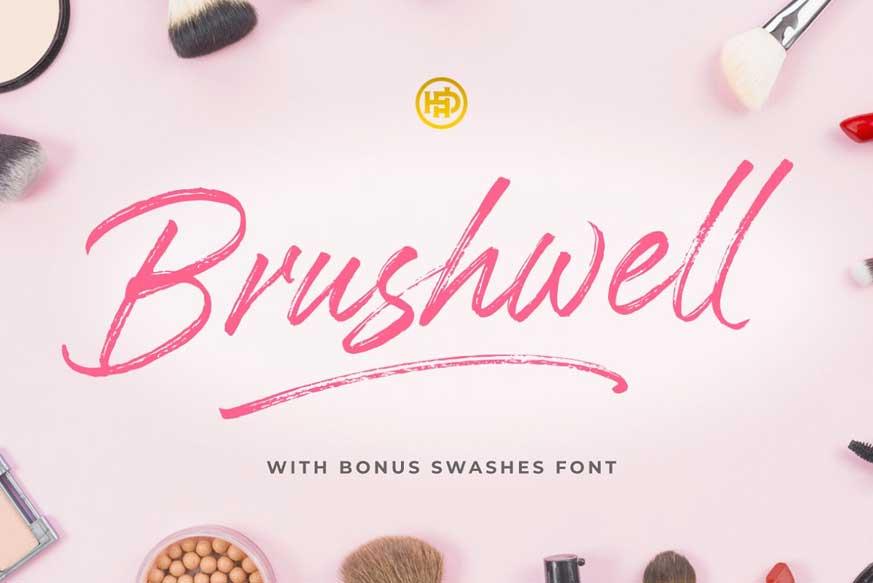 Brushwell - Dry Brush Font