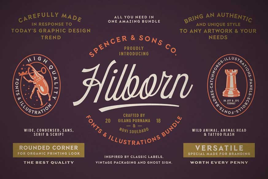 S&S Hilborn Font Bundle