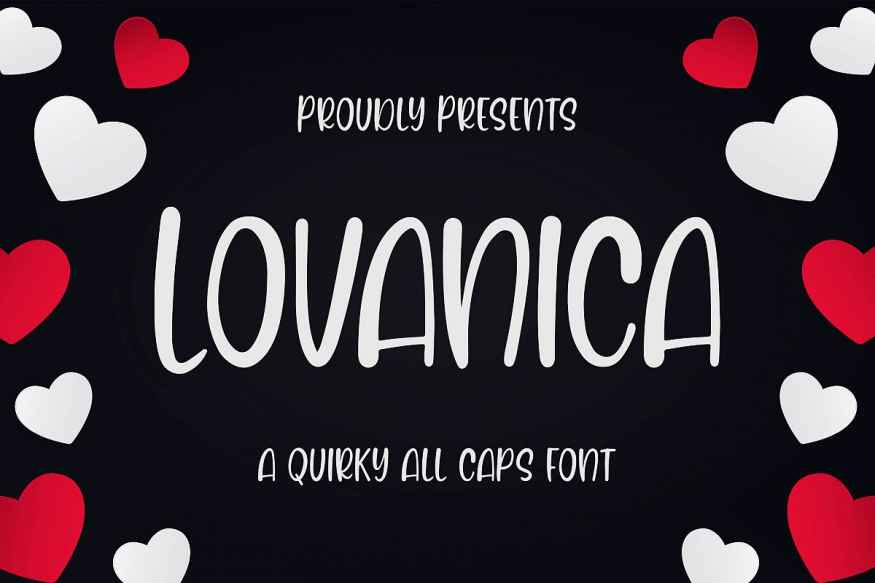 Lovanica - a Quirky Font