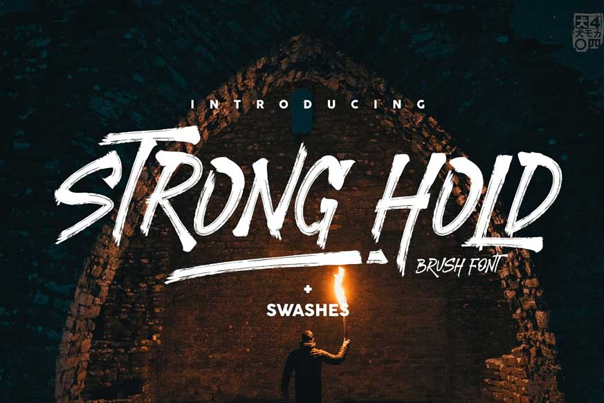 STRONGHOLD Brush Font