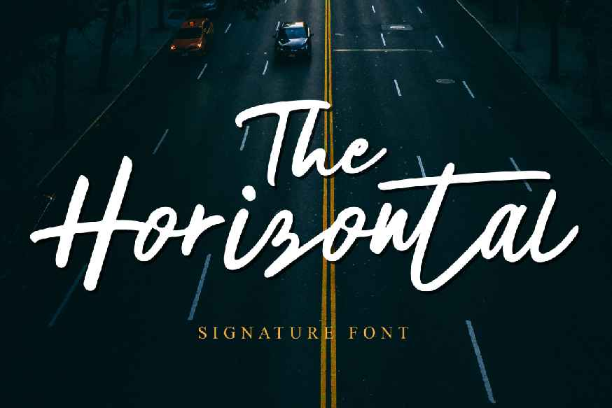 The Horizontal Font