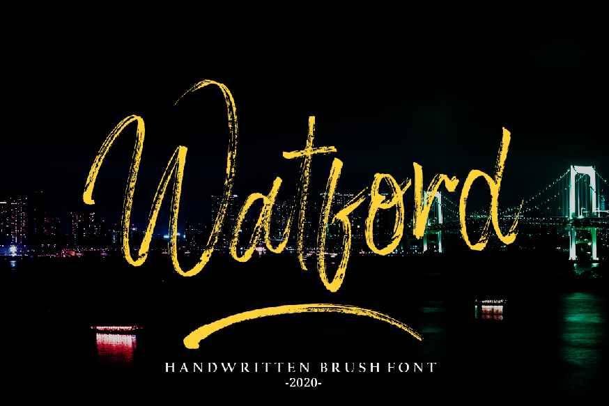 Watford Brush Font