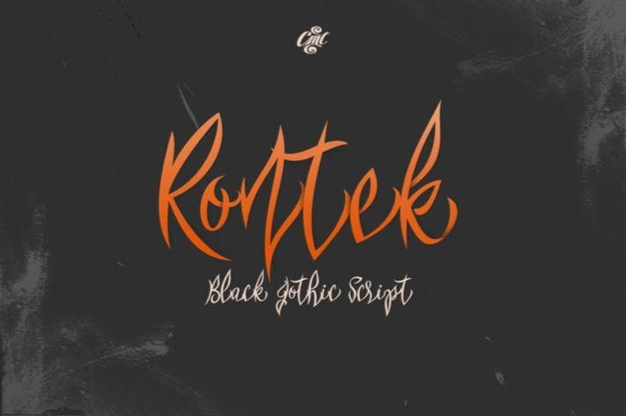Rontek - Black Gothic Script