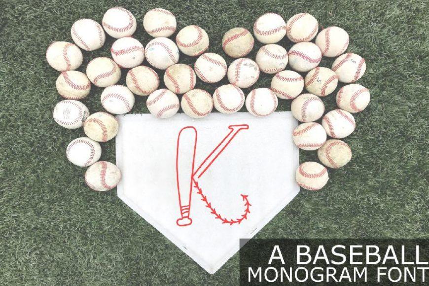 Baseball Monogram Font