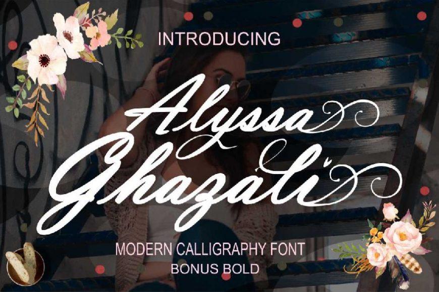 Alyssa Ghazali - Modern Calligraphy Font