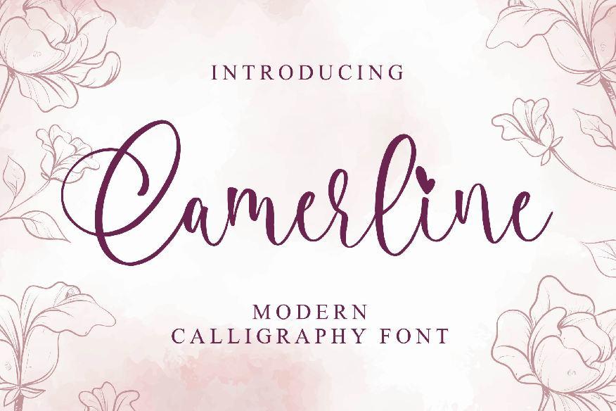 Camerline - Modern Calligraphy Font