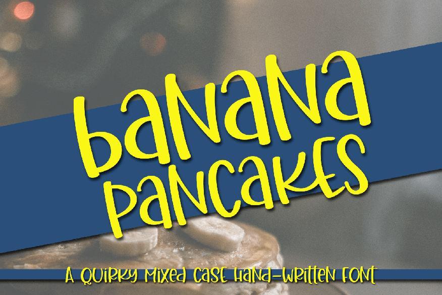 Banana Pancakes Font