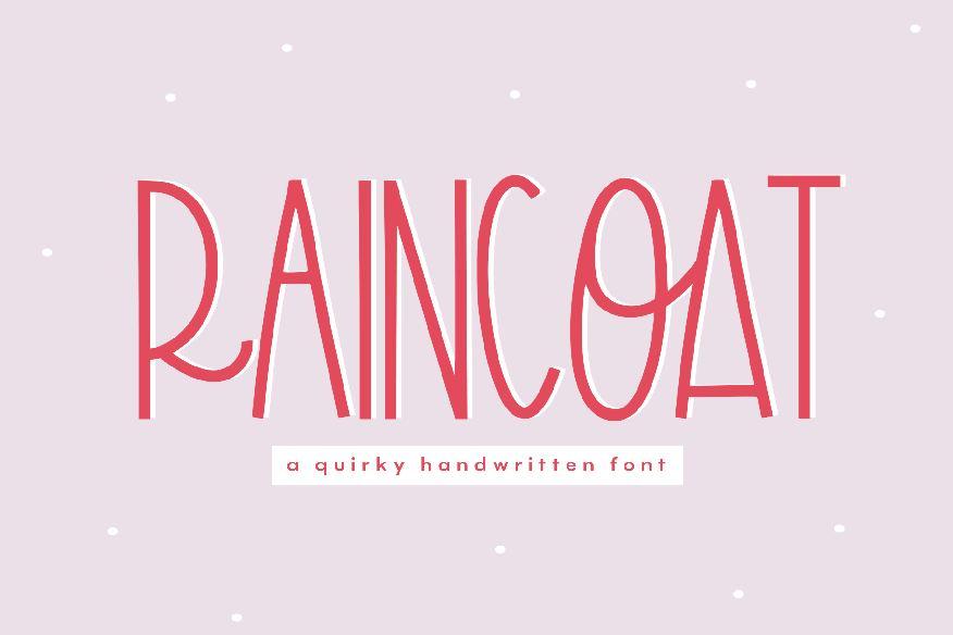 Raincoat - A Quirky Handwritten Font