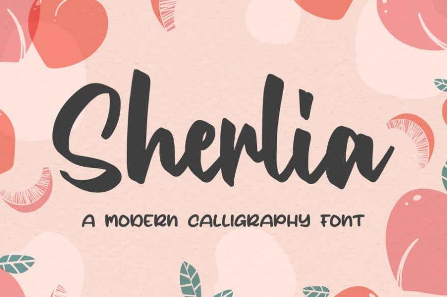 Sherlia a Modern Calligraphy Font