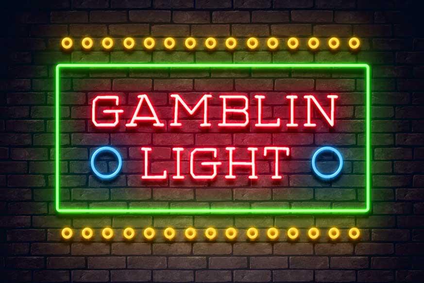 Gamblin Light Neon Font