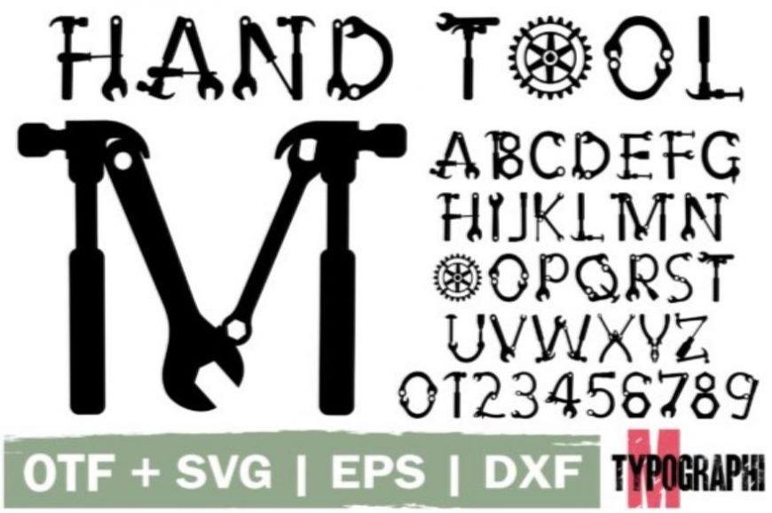 Hand Tool Font