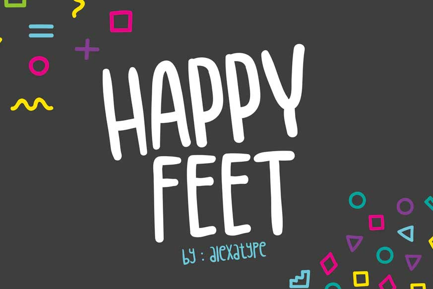 Happy Feet - Children Font