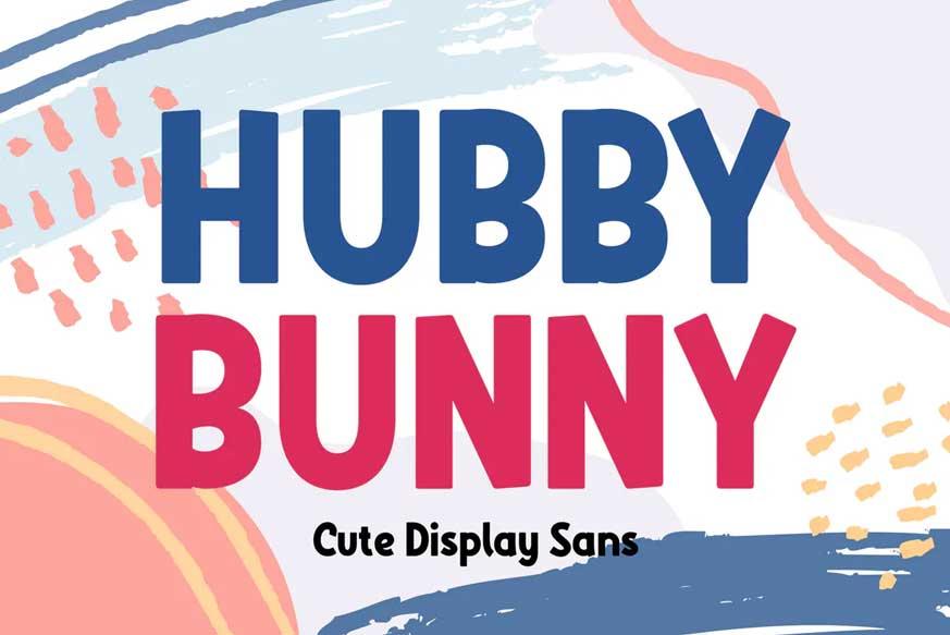 Hubby Bunny - Cute Display Sans
