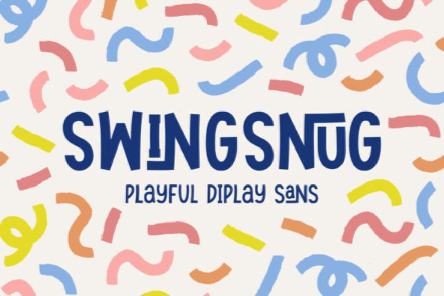 Swingsnug - Playful Display Sans
