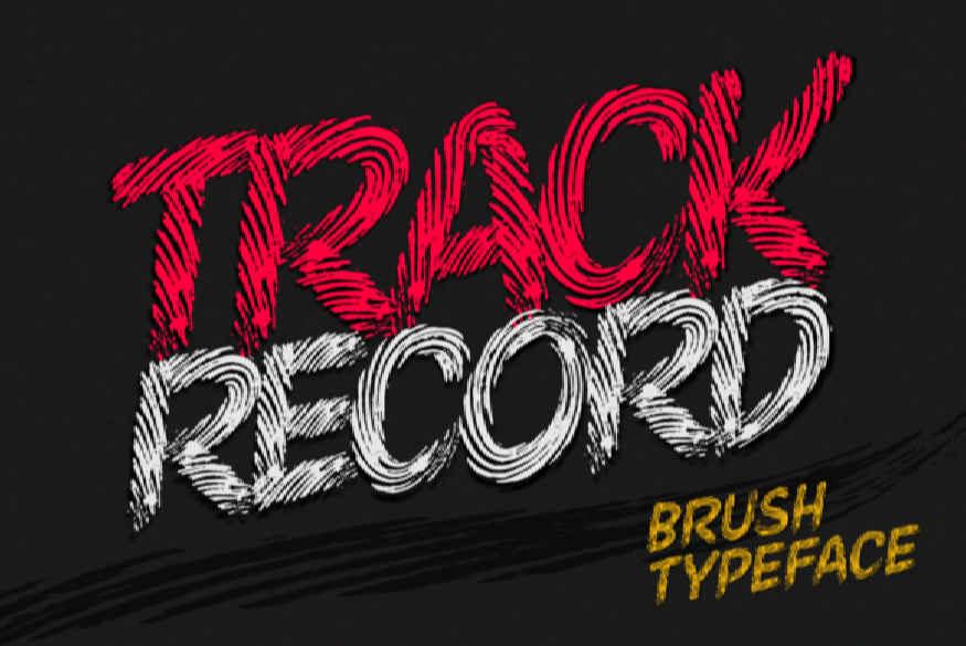 Track Record Font
