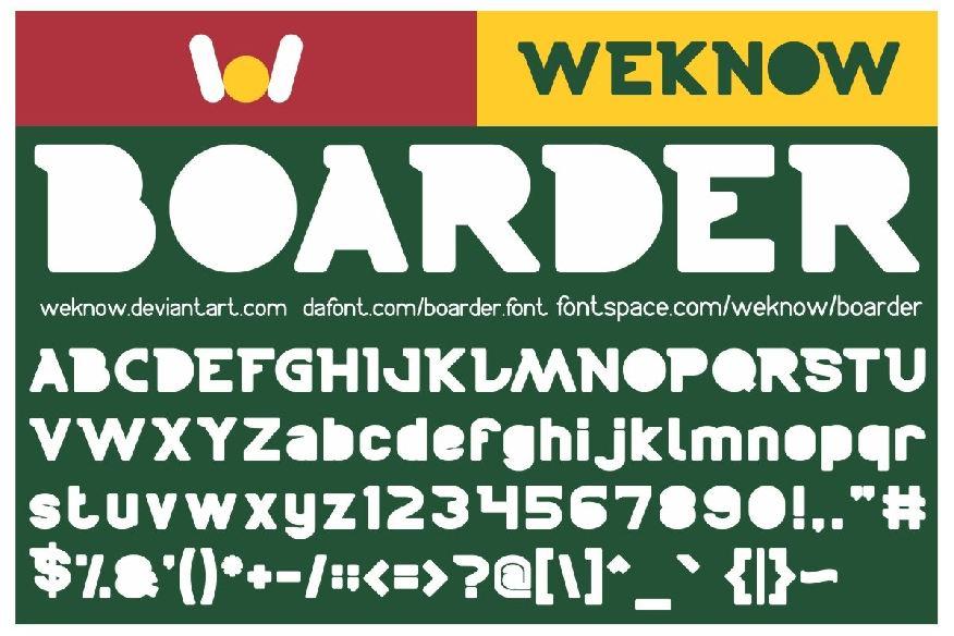 Boarder Font