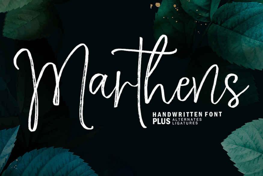 Marthens Script Font